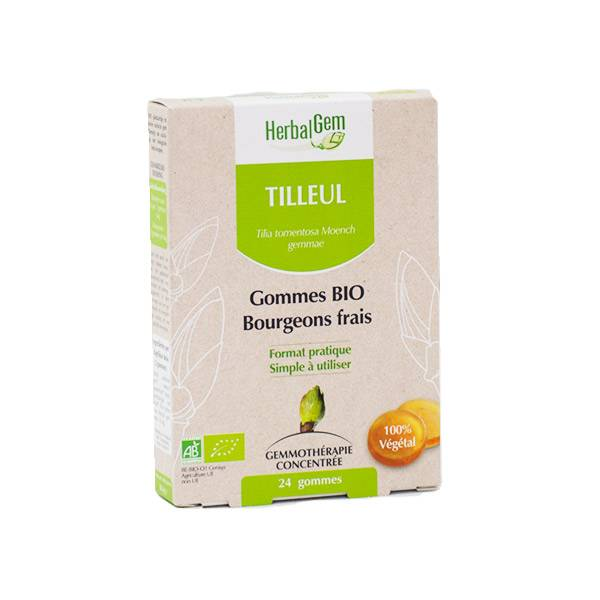 Herbalgem Tilleul Gommes Bio Bourgeons Frais 24 unités