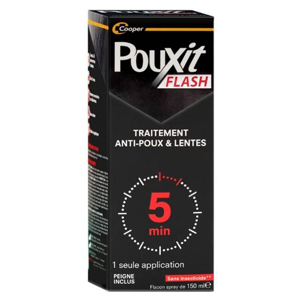 Cooper Pouxit Flash Spray Anti-Poux et Lentes 150ml