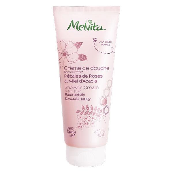 Melvita Les Essentiels Crème de Douche Pétales de Roses & Miel d'Acacia Bio 200ml