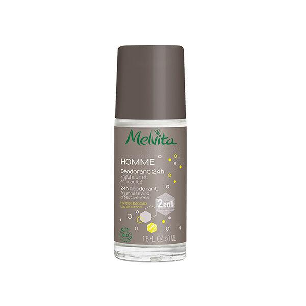 Melvita - Homme - Déodorant 24h Huile de Baobab Eau de Citron 50ml