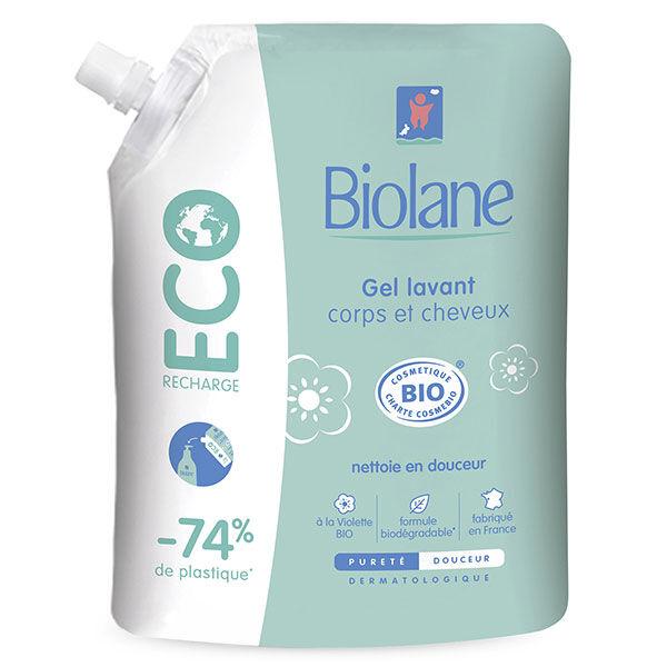 Biolane Expert Gel Lavant Corps & Cheveux Éco-Recharge Bio 500ml