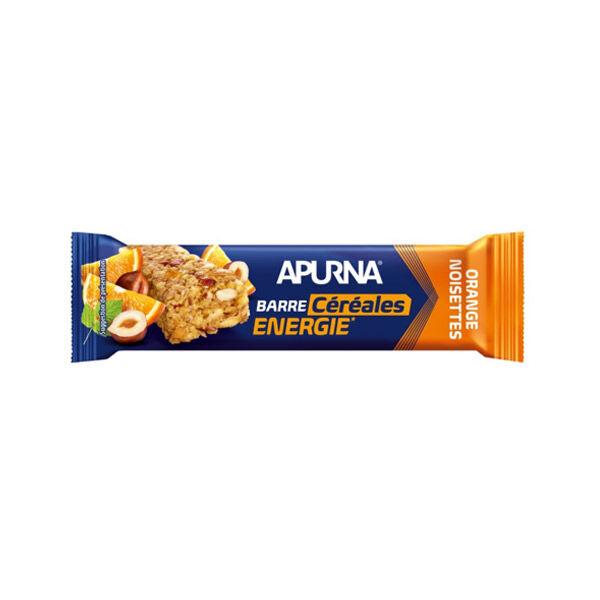 Apurna Barre Energie Céréales Orange Noisettes 35g