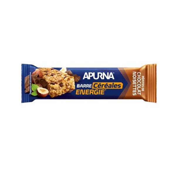 Apurna Barre Energie Céréales Pépites de Chocolat Noisettes 35g