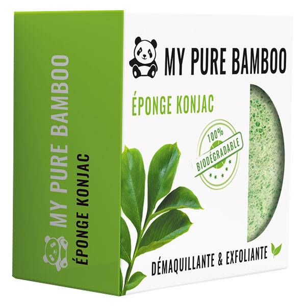 My Pure Bamboo Éponge Konjac Verte