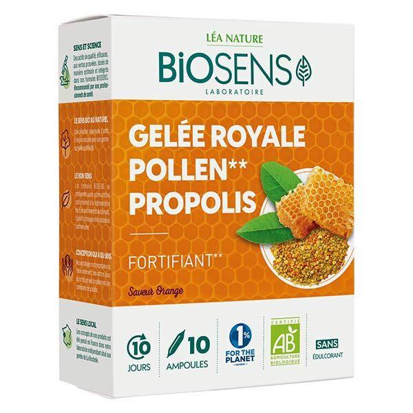 Biosens Gelée Royale Pollen Propolis Bio 10 ampoules