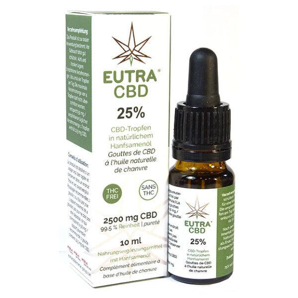Eutra CBD 25 % Gouttes à l'huile de Chanvre 10ml