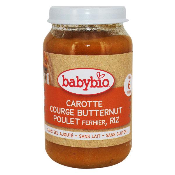 Babybio Menu du Jour Pot Carotte Butternut Poulet Riz +6m Bio 200g