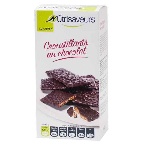 Nutrisaveurs Croustillant au Chocolat Noir 6 biscuits
