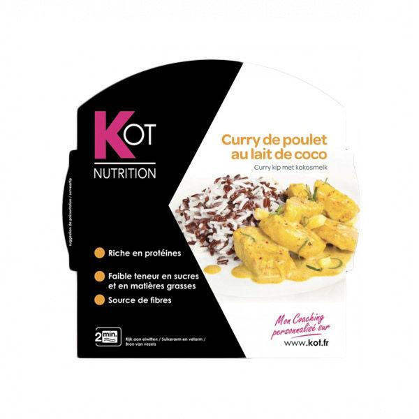 Kot Plat Cuisiné Curry de Poulet au Lait de Coco 270g