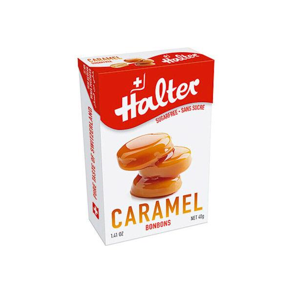 Halter Bonbon Suisse sans Sucre Caramel 40g