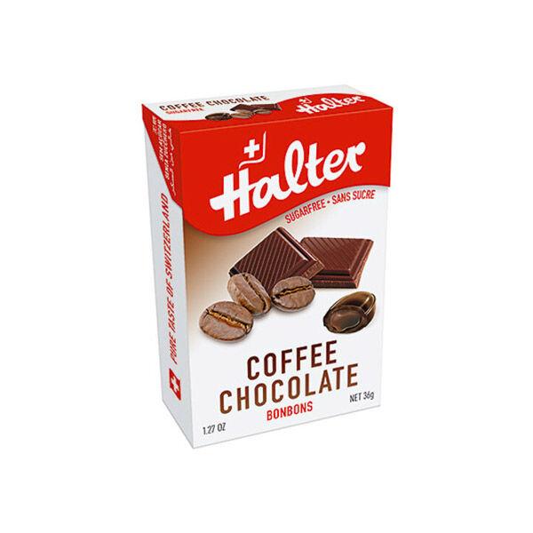 Halter Bonbon Suisse sans Sucre Café Chocolat 36g