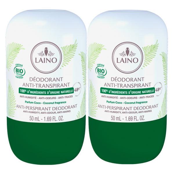 Laino Déodorant Antitranspirant 48h Bio Coco 2x50ml