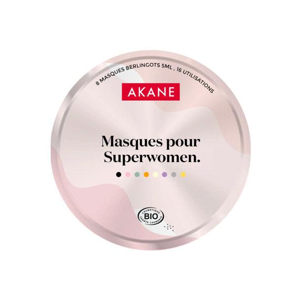 Akane Coffret Edition Limitée Masques Visage Pour Superwomen Bio 8x5ml