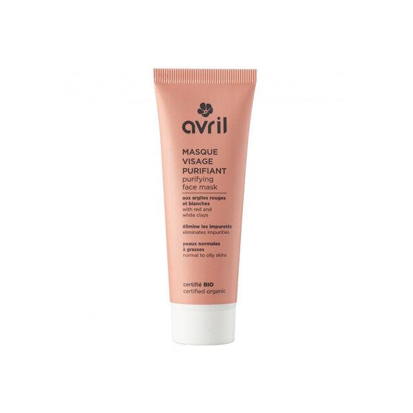 Avril Masque Visage Purifiant Peaux Normales à Grasses Bio 50ml