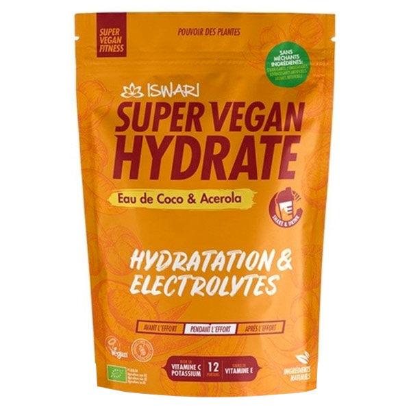 Iswari Super Vegan Fitness Hydrate Eau de Coco Acérola Bio 360g