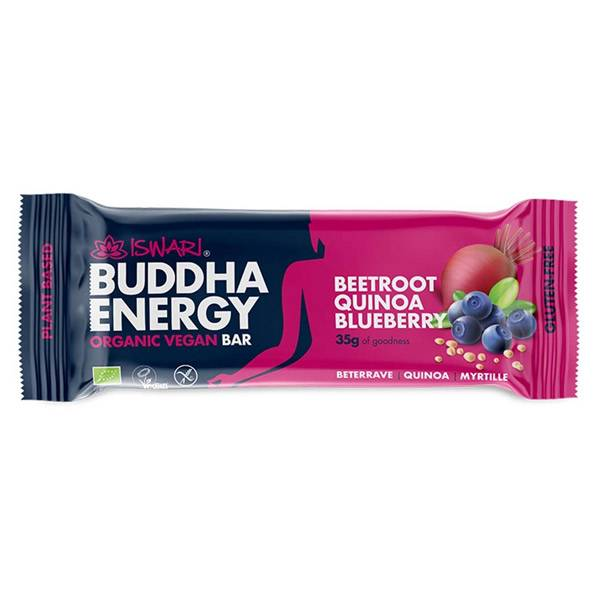 Iswari Barre Bouddha Energie Betterave Quinoa et Myrtille Bio 35g