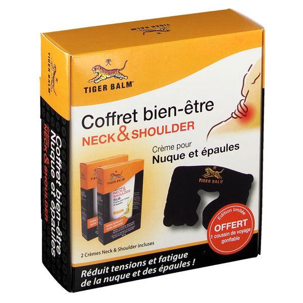 Baume du Tigre Coffret Bien-Être Crème Nuque et Épaules 2 x 50g + 1 Coussin Offert