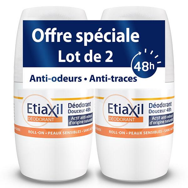 Etiaxil Déodorant Douceur 48h Roll-On Lot de 2 x 50ml