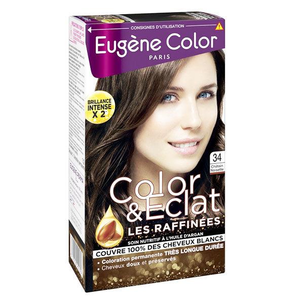 Eugène Color Les Raffinées Crème Colorante Permanente n°34 Châtain Noisette