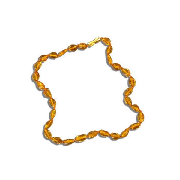 Nildor Collier d'Ambre Bébé Perles Olives Dorées 33cm réf A200