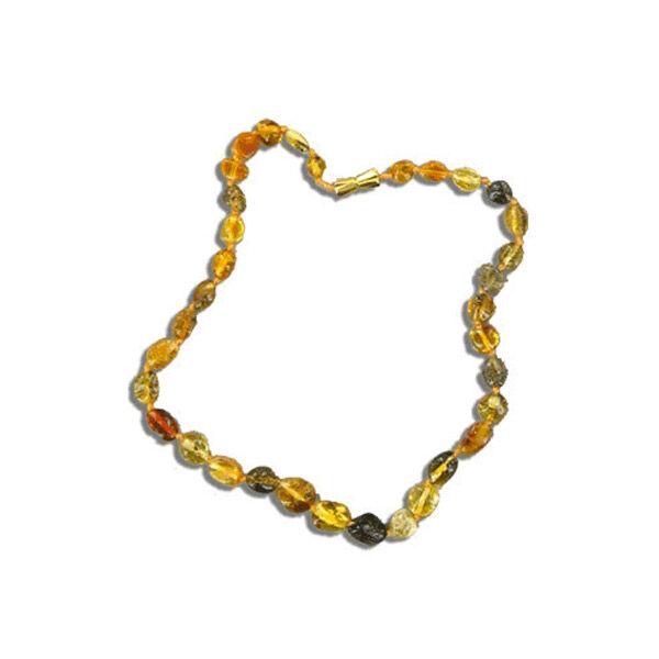Nildor Collier d'Ambre Bébé Perles Olives Multicolores 33cm réf A250