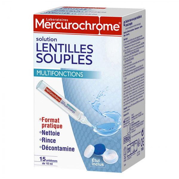 Mercurochrome Solution Lentilles Souples Unidoses 15 x 10ml