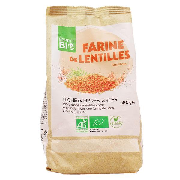 Esprit Bio Farine de Lentilles Bio 400g