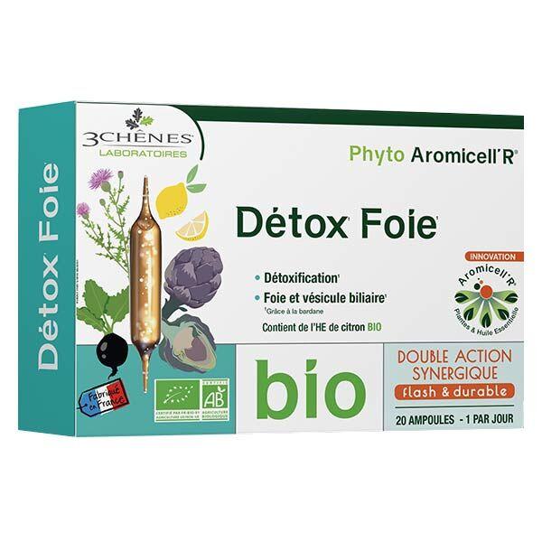 Les 3 Chênes Aromicell'R Détox Foie Bio 20 ampoules