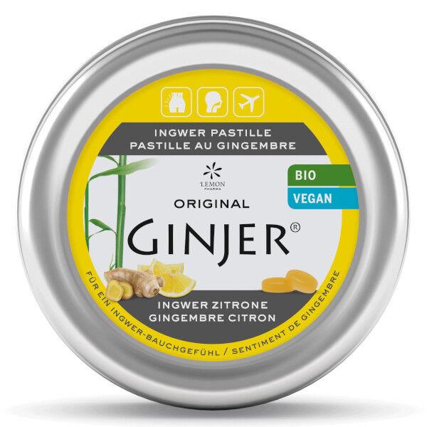 Lemon Pharma Ginjer Pastilles Gingembre Goût Citron 40g