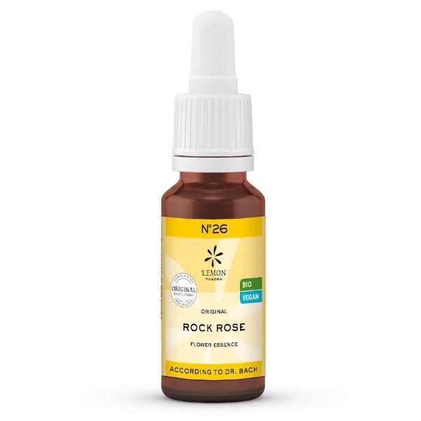 Lemon Pharma Fleurs de Bach N°26 Rock Rose Bio 20ml