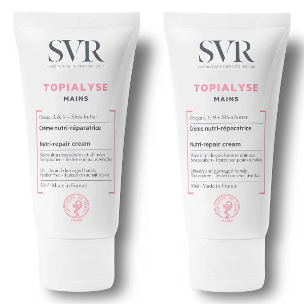 SVR Topialyse Crème Mains Lot de 2 x 50ml