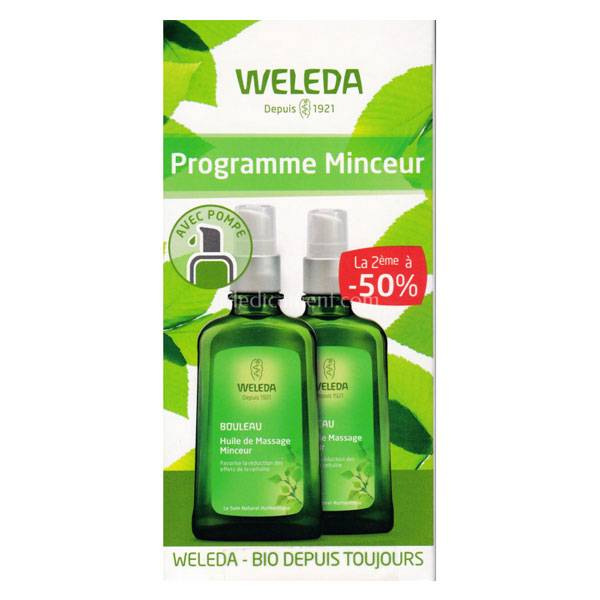 Weleda Programme Minceur Bouleau Huile de Massage Minceur Lot de 2 x 100ml