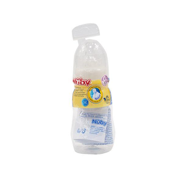 Nuby Biberon Slow Flow Blanc 0m+ avec Tétine Anti Colique 150ml