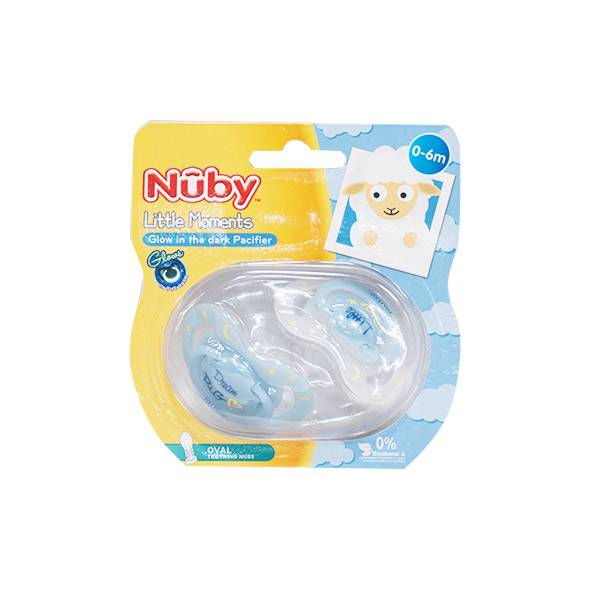 Nuby Sucettes Phosphorescentes Little Moments Dream Big 0-6m Lot de 2