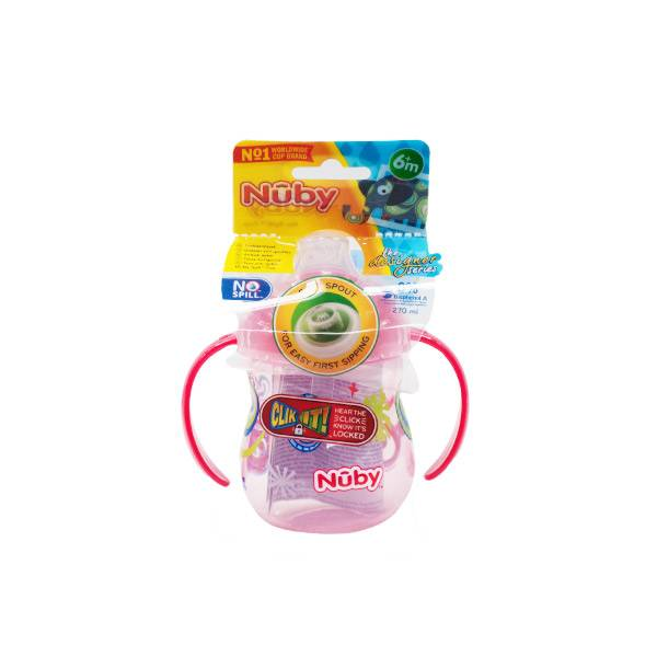 Nuby Gobelet Bec Silicone Souple Anti-Goutte Rouge +6 mois 270ml