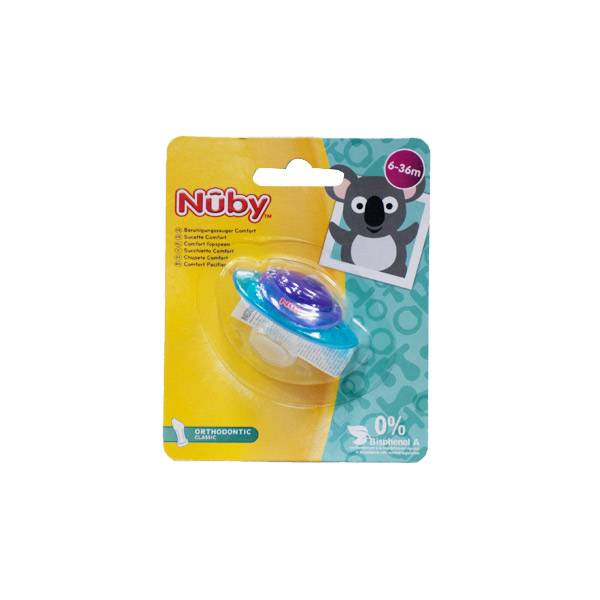 Nuby Sucette Comfort Orthodontic Classic 6-36 mois Violet et Bleu