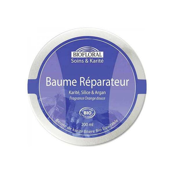 Biofloral Baume Réparateur au Karité Silice et Argan pot 200ml