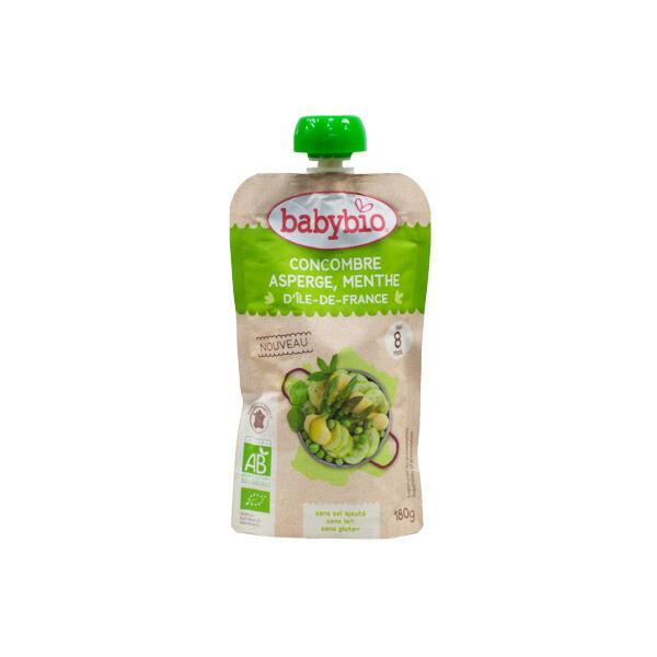Babybio Menu du Jour Gourde Légumes Concombre Asperge Menthe dès 8 mois 180g