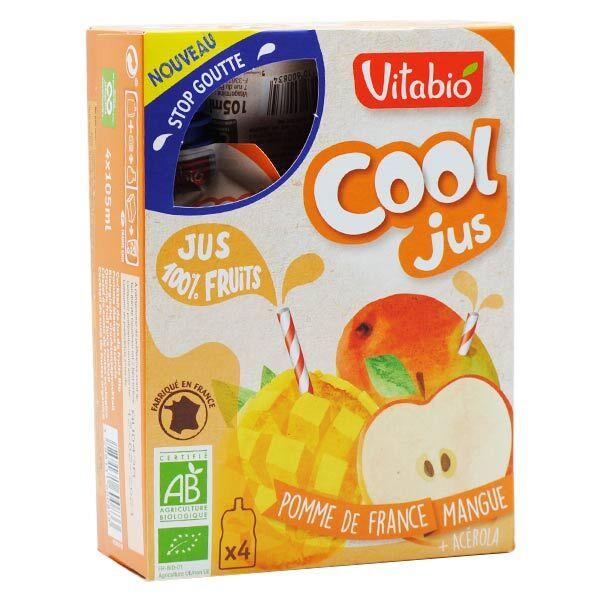 Vitabio Cool Jus Pomme Mangue Acérola Bio Lot de 4 x 105ml