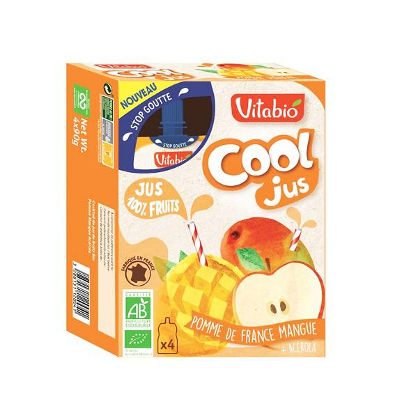 Vitabio Cool Jus Pomme Mangue Acérola 4 x 105ml