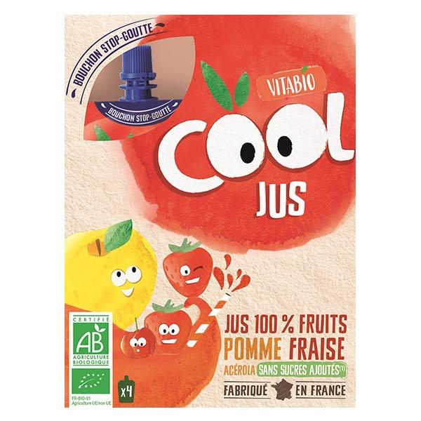 Vitabio Cool Jus Pomme Fraise Acérola Bio Lot de 4 x 105ml