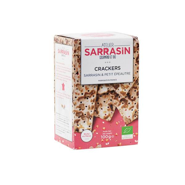Atelier Sarrasin Crackers Sarrasin et Petit Epeautre Bio 100g