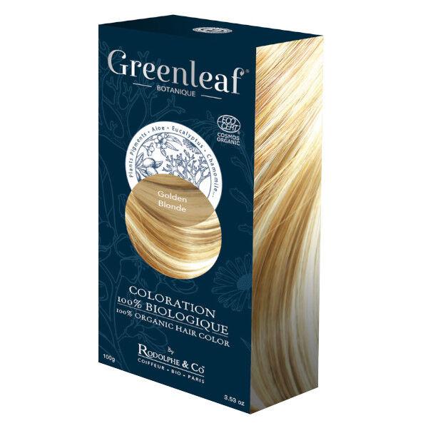 GreenLeaf Botanique Coloration 100 % Végétale Bio Blond Doré 100g