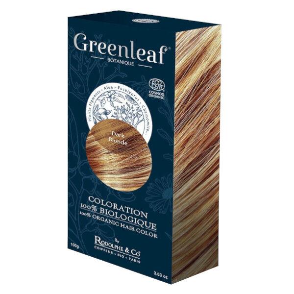 GreenLeaf Botanique Coloration 100 % Végétale Bio Blond Foncé 100g