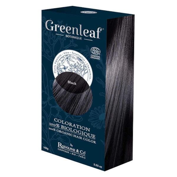 GreenLeaf Botanique Coloration 100 % Végétale Bio Noir 100g