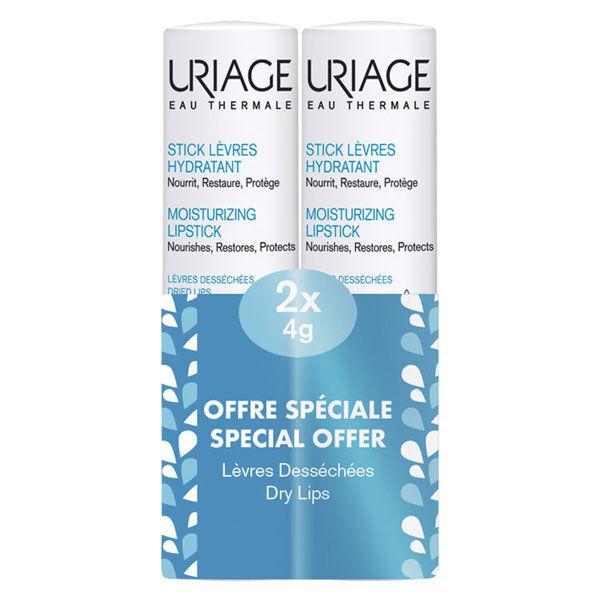 Uriage Stick Lèvres Hydratant à La Poudre d'Eau Thermale Lot 2 x 4g