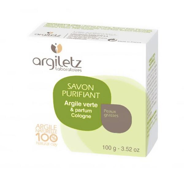 Argiletz Savon Naturel Purifiant Argile Verte Parfum Cologne 100g