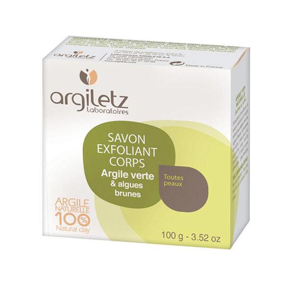 Argiletz Savon Naturel Exfoliant Argile Verte et Algues Brunes 100g