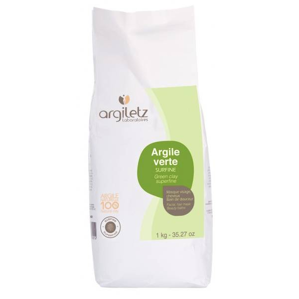 Argiletz Argile Verte Surfine 1kg