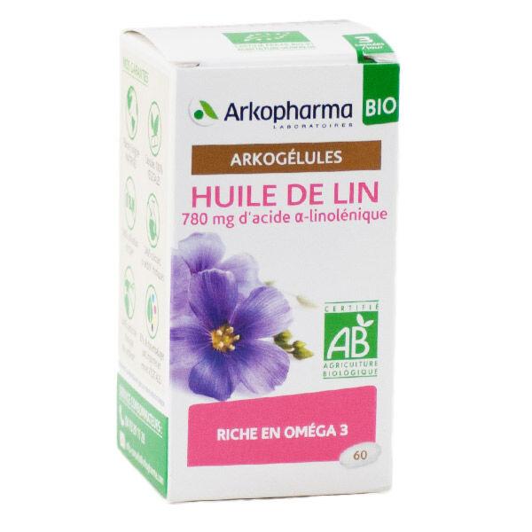Arkopharma Arkogélules Huile de Lin Bio 60 gélules